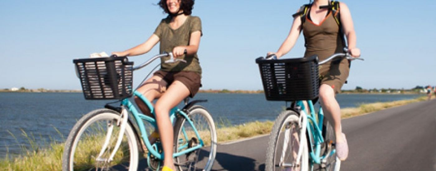 Going to the beach in Montpellier by public transport and by bike
